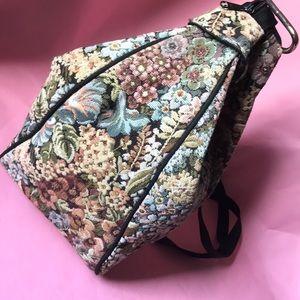 Vintage multicolored tapestry bag/backpack